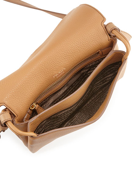 Small Leather Double-Gusset Shoulder Bag