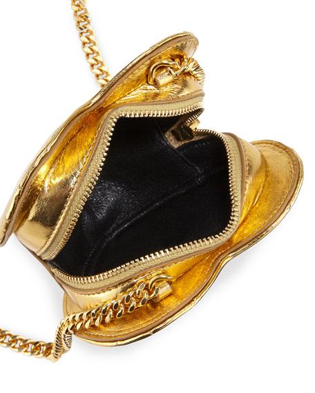 Saint Laurent Love Mini Heart Crossbody Bag, Gold