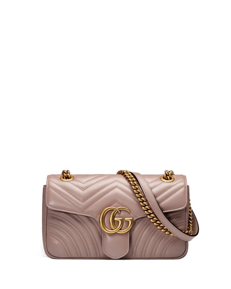 Gucci GG Marmont Small Matelassé Shoulder Bag, Black