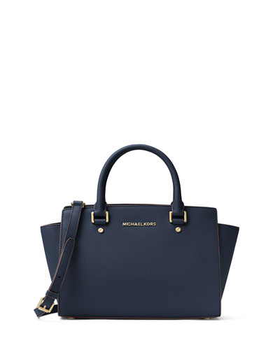 Selma Medium Top-Zip Satchel Bag