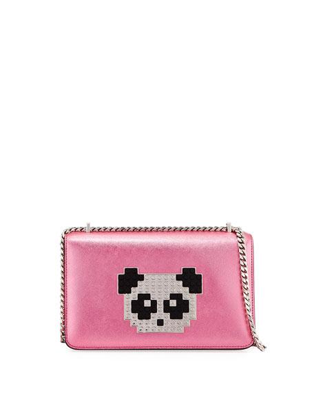 Les Petits Joueurs Mini Janis Panda Crossbody Bag,
