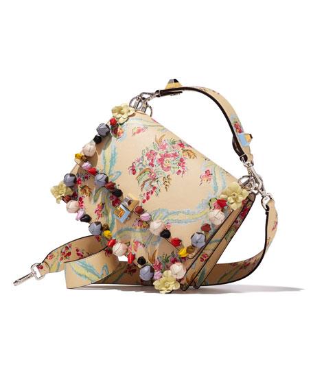 Kan I Aubusson-Print Leather Shoulder Bag