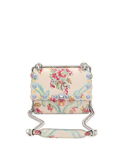 4410ef17c76f Fendi Kan I Mini Aubusson-Print Chain Shoulder Bag
