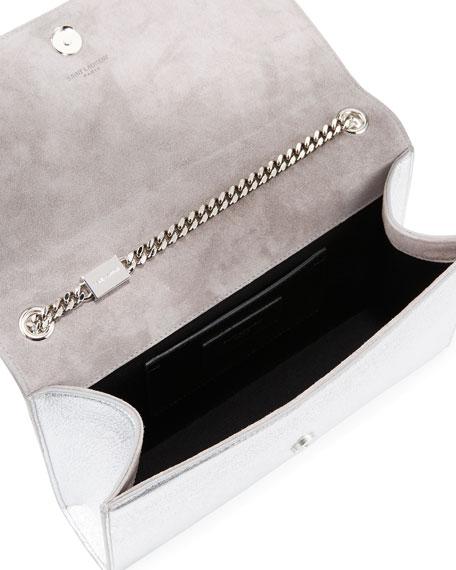 Kate Monogram Medium Cloud Chain Shoulder Bag, Platine