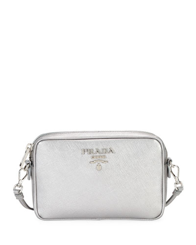 Small Saffiano Leather Camera Crossbody Bag