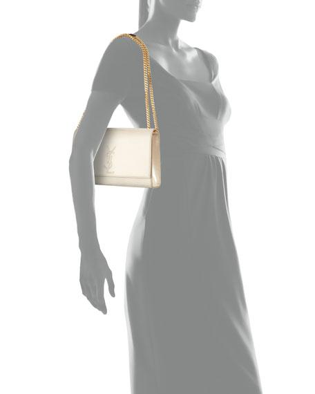 Saint Laurent Kate Monogram Medium Suede Chain Shoulder Bag, Yellow  Metallic   Neiman Marcus d471dbb44e