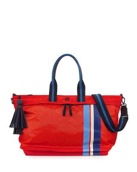 Tory Sport Nylon East-West Zip Gym Satchel Bag,