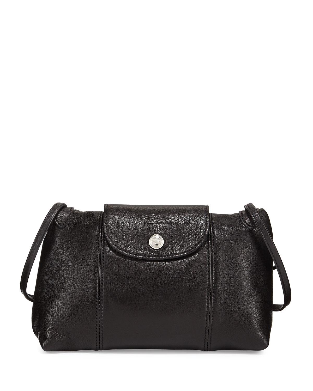 c3267f3d4314 Longchamp Le Pliage Cuir Small Crossbody Bag