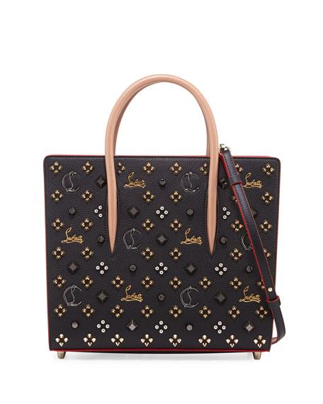 Paloma Medium Mixed-Stud Tote Bag, Black/Multi