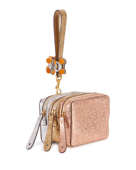 Anya Hindmarch The Stack Circulus Wristlet Bag, Pink