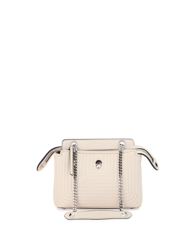 b2d777d7a310 Fendi Dotcom Click Small Quilted Chain Shoulder Bag