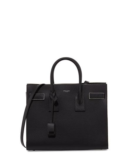 Sac de Jour Small Satchel Bag, Black/White