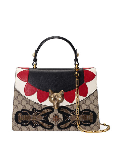 Gucci Broche GG Supreme Top-Handle Bag