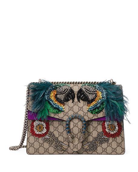 Dionysus Medium Parrot Shoulder Bag, Multi
