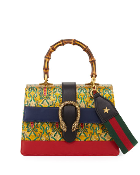Gucci Dionysus Medium Tokyo-Print Top-Handle Satchel Bag, Multi