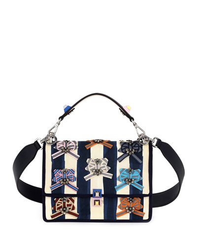 Fendi Kan I Pequin Watercolor Shoulder Bag, Blue/Pink