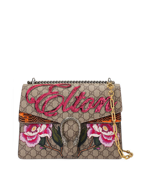 Gucci Dionysus Medium Elton Shoulder Bag, Neutral/Multi