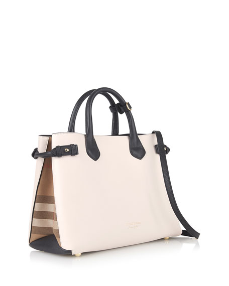 Banner Medium House Check Derby Tote Bag, Beige/Black