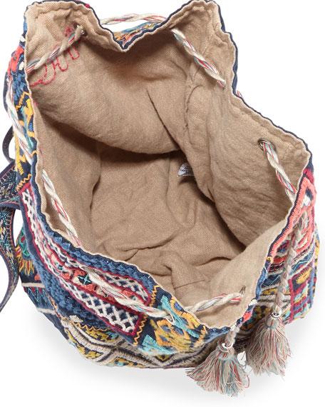 Arwen Embroidered Drawstring Backpack