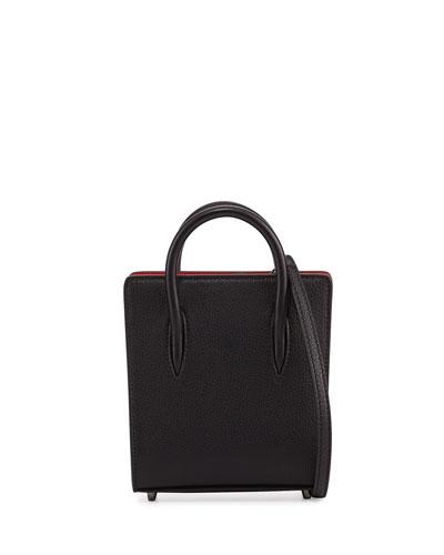 Paloma Nano Spike Leather Tote Bag, Black