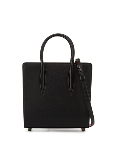 Paloma Small Spike Leather Tote Bag, Black
