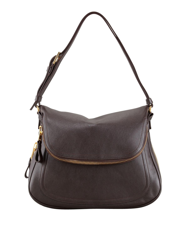 32175f581 TOM FORD Jennifer Medium Leather Shoulder Bag, Brown | Neiman Marcus