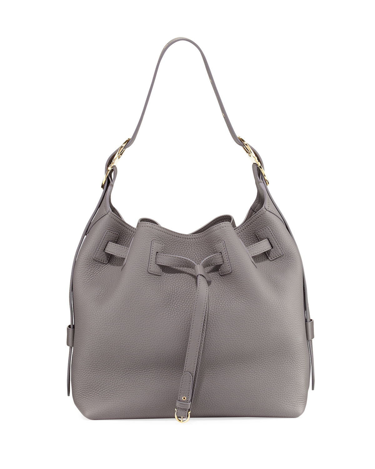 Salvatore Ferragamo Large Pebbled Bucket Bag 4754bb3377f62