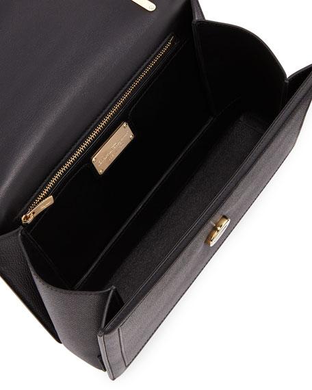 Ginny Medium Vara Crossbody Bag, Black