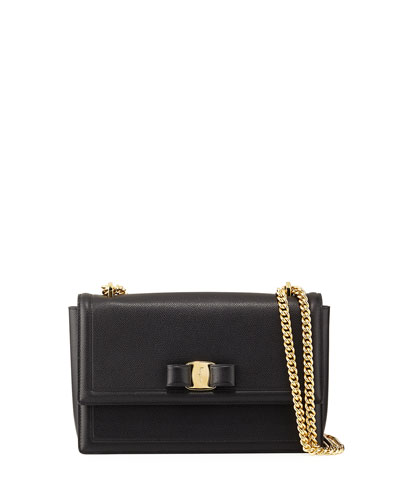 Ginny Medium Vara Crossbody Bag, Black