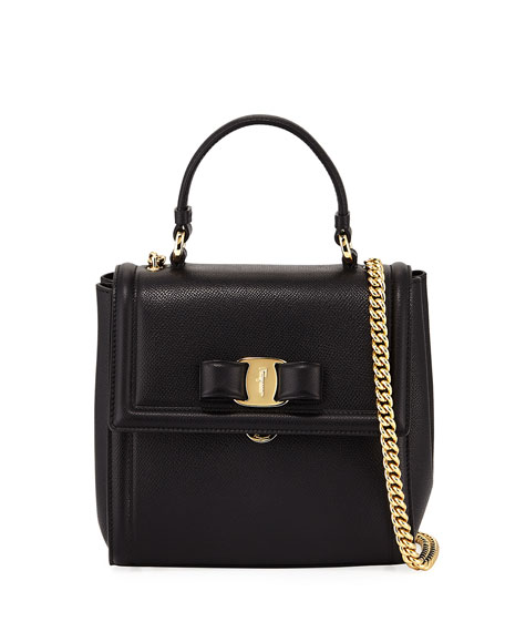 Salvatore Ferragamo Carrie Vara Small Satchel Bag