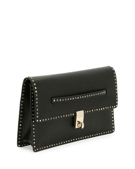 Rockstud Flap Clutch Bag