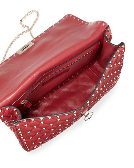 Rockstud Spike Large Quilted Shoulder Bag