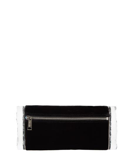 Soft Lara Velvet Clutch Bag