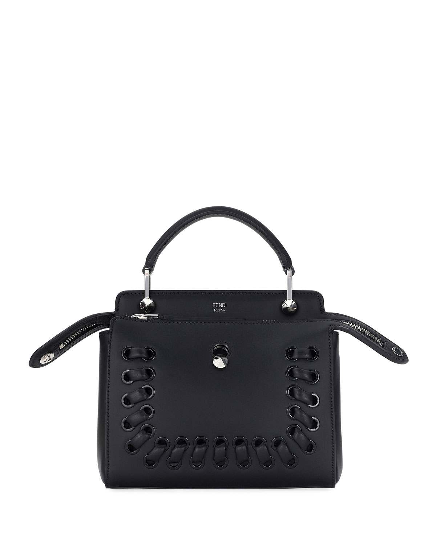 Fendi Dotcom Click Whipstitch Leather Shoulder Bag  5670ff949c11f