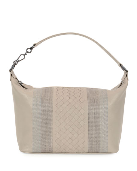 Bottega Veneta Small Intrecciato Shoulder Bag, Smoke