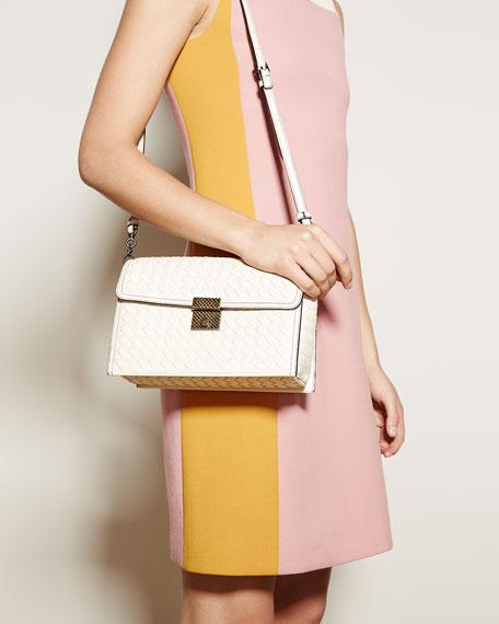 Intrecciato Leather Padlock Shoulder Bag