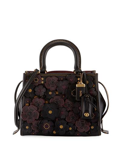 Rogue 25 Tea Rose Tote Bag, Black