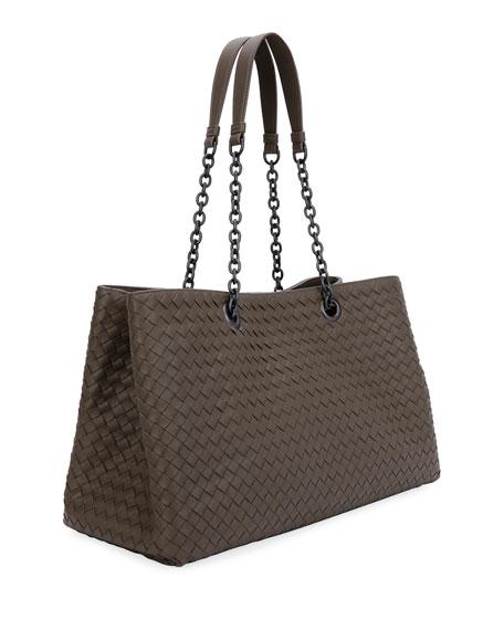 Intrecciato Double Chain Tote Bag
