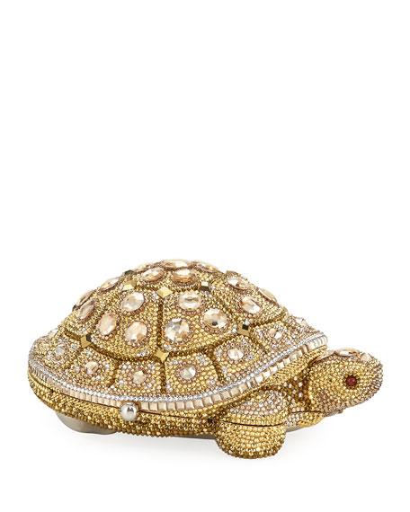 Judith Leiber Crystal-Embellished Turtle Clutch Bag, Yellow