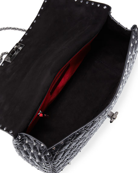 b92debfef52 Image 2 of 4: Valentino Garavani Rockstud Spike Large Quilted Leather  Shoulder Bag