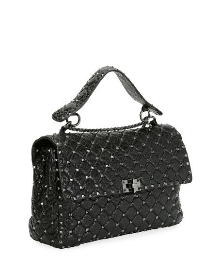 Rockstud Spike Large Quilted Leather Shoulder Bag