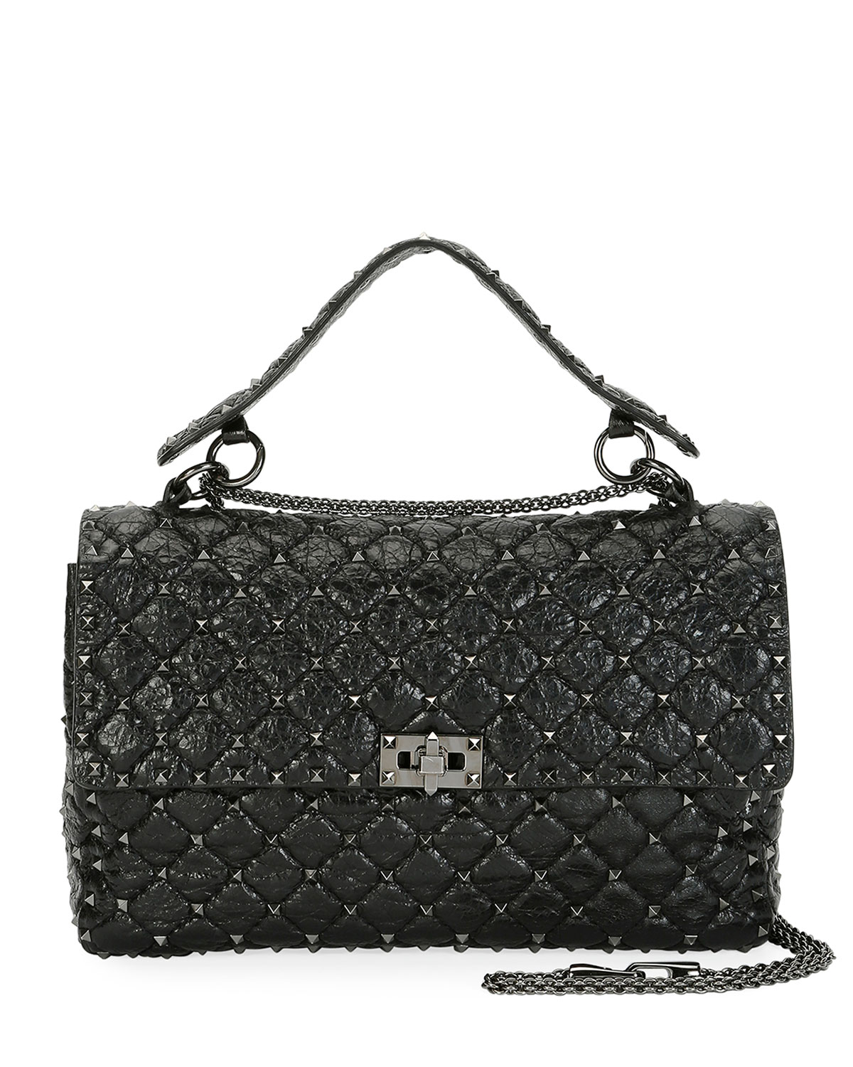 cc718e727b9 Valentino Garavani Rockstud Spike Large Quilted Leather Shoulder Bag ...