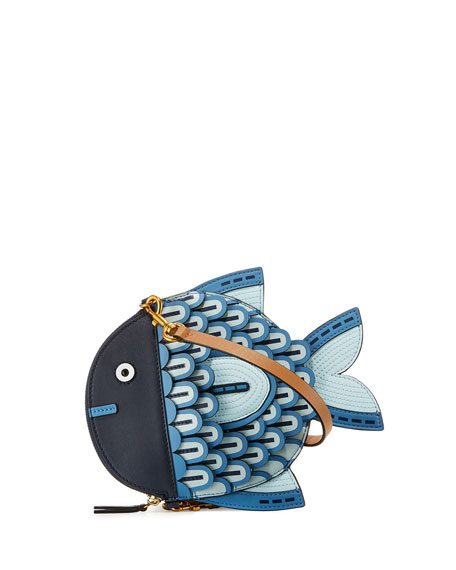 Fish Leather Crossbody Bag