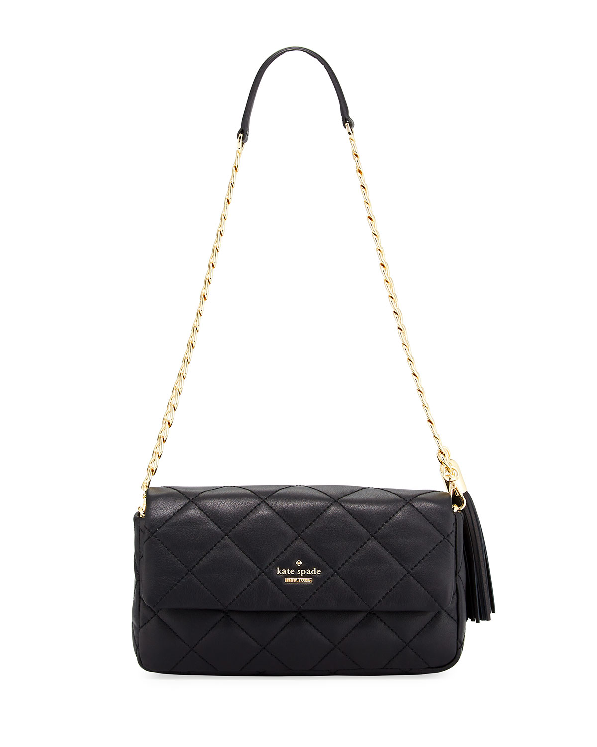 Emerson Place Serena Quilted Shoulder Bag Black