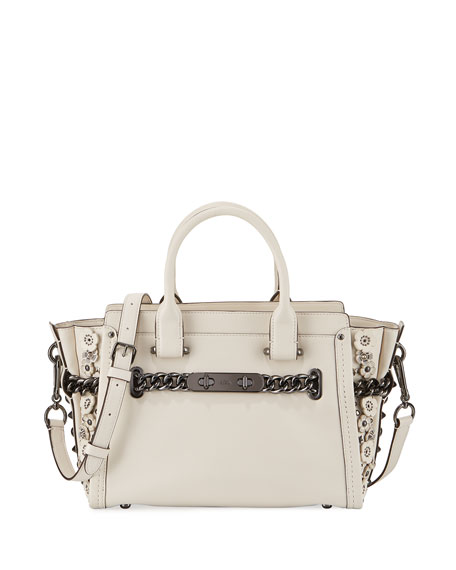 Coach Swagger 27 Leather Satchel Bag, Chalk