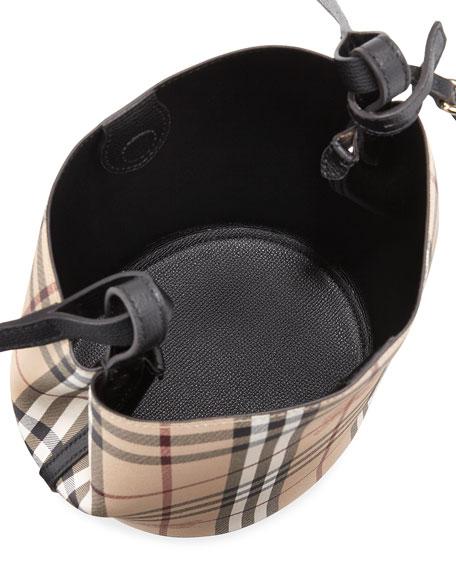 Lorne Haymarket Small Tote Bag, Black/Check