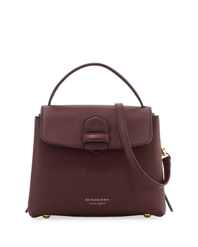 Camberley Small House Check Saffiano Tote Bag, Dark Red