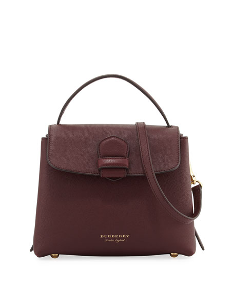 Burberry Camberley Small House Check Saffiano Tote Bag,