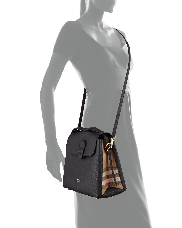 6bbf89fcf82 Burberry Camberley Medium Leather Tote Bag, Black | Neiman Marcus