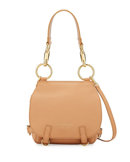 Burberry Bridle Small Soft Satchel Bag, Light Orange